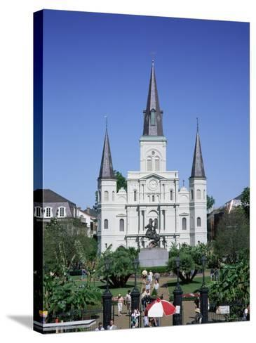St. Louis Christian Cathedral in Jackson Square, French Quarter, New Orleans, Louisiana, USA-Gavin Hellier-Stretched Canvas Print