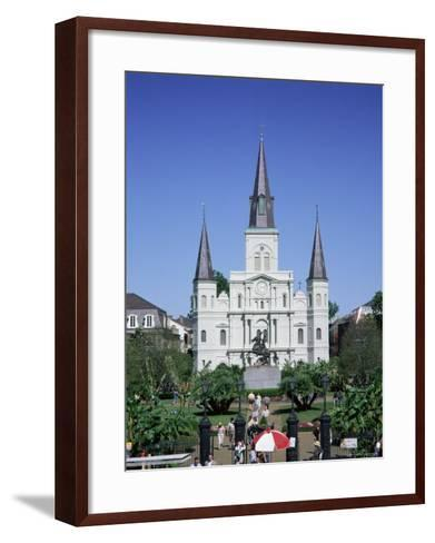 St. Louis Christian Cathedral in Jackson Square, French Quarter, New Orleans, Louisiana, USA-Gavin Hellier-Framed Art Print
