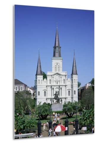 St. Louis Christian Cathedral in Jackson Square, French Quarter, New Orleans, Louisiana, USA-Gavin Hellier-Metal Print