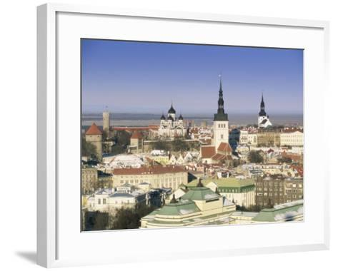 Elevated Winter View Over the Old Town Towards Alexander Nevsky Cathedral, Estonia, Baltic States-Gavin Hellier-Framed Art Print