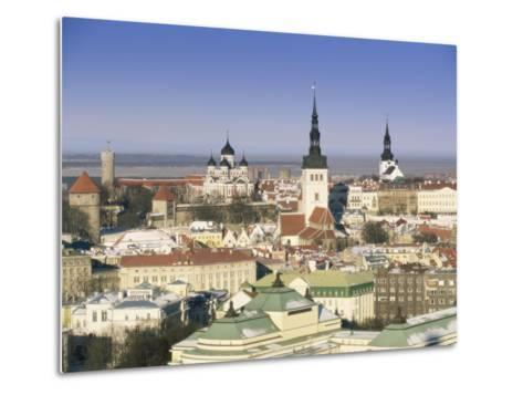 Elevated Winter View Over the Old Town Towards Alexander Nevsky Cathedral, Estonia, Baltic States-Gavin Hellier-Metal Print