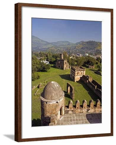 View Over Gonder and the Royal Enclosure from the Top of Fasiladas' Palace, Ethiopia-Gavin Hellier-Framed Art Print
