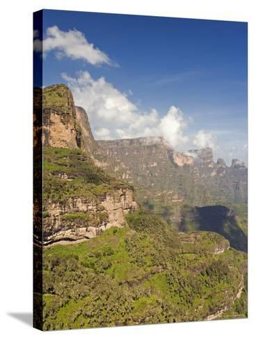 Dramatic Mountain Scenery from the Area Around Geech, the Ethiopian Highlands, Ethiopia-Gavin Hellier-Stretched Canvas Print