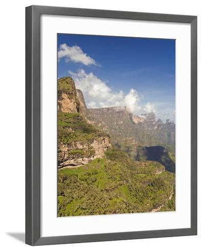 Dramatic Mountain Scenery from the Area Around Geech, the Ethiopian Highlands, Ethiopia-Gavin Hellier-Framed Art Print