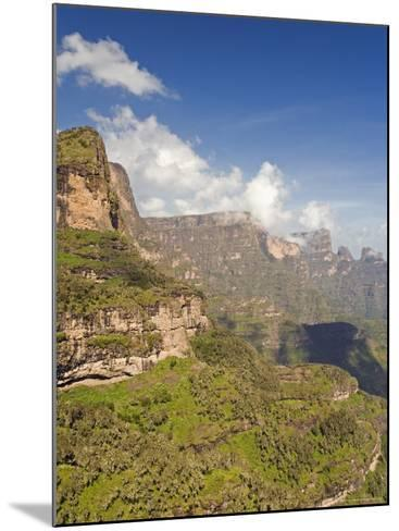 Dramatic Mountain Scenery from the Area Around Geech, the Ethiopian Highlands, Ethiopia-Gavin Hellier-Mounted Photographic Print