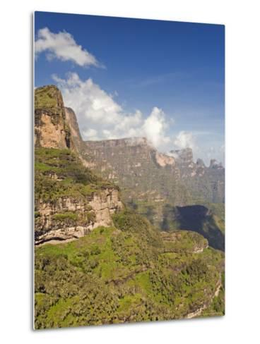 Dramatic Mountain Scenery from the Area Around Geech, the Ethiopian Highlands, Ethiopia-Gavin Hellier-Metal Print