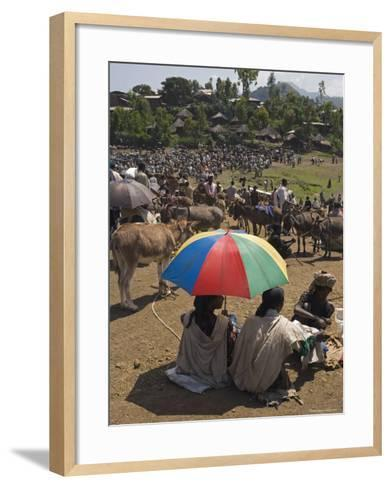 People Walk for Days to Trade in This Famous Weekly Market, Ethiopia-Gavin Hellier-Framed Art Print