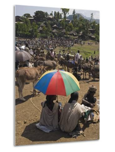 People Walk for Days to Trade in This Famous Weekly Market, Ethiopia-Gavin Hellier-Metal Print
