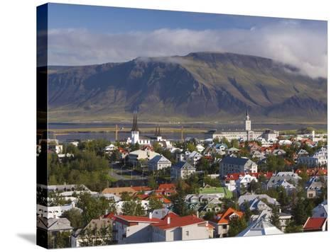 View from the Perlan of Colourful Houses, Reykjavik, Iceland-Gavin Hellier-Stretched Canvas Print
