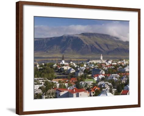 View from the Perlan of Colourful Houses, Reykjavik, Iceland-Gavin Hellier-Framed Art Print
