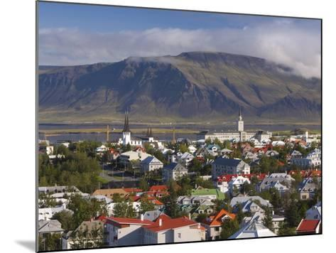 View from the Perlan of Colourful Houses, Reykjavik, Iceland-Gavin Hellier-Mounted Photographic Print