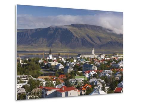View from the Perlan of Colourful Houses, Reykjavik, Iceland-Gavin Hellier-Metal Print