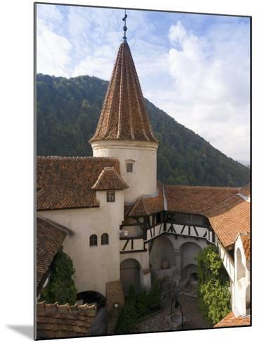 Detail of Courtyard and Turret, Bran Castle (Dracula's Castle), Bran, Saxon Land, Transylvania-Gavin Hellier-Mounted Photographic Print