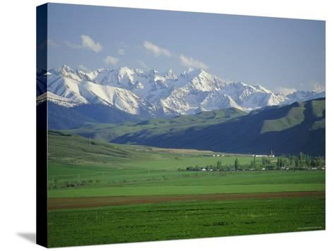 Tersey Alatoo Mountains by Lake Issyk-Kul, Tien Shan Range, Kirghizstan, Fsu, Central Asia-Gavin Hellier-Stretched Canvas Print