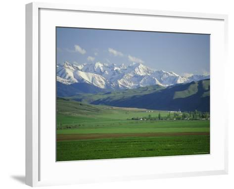 Tersey Alatoo Mountains by Lake Issyk-Kul, Tien Shan Range, Kirghizstan, Fsu, Central Asia-Gavin Hellier-Framed Art Print