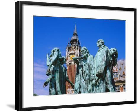 The Burghers of Calais, Statue by Rodin, in Front of the Town Hall, Picardie (Picardy), France-David Hughes-Framed Art Print