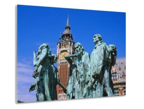 The Burghers of Calais, Statue by Rodin, in Front of the Town Hall, Picardie (Picardy), France-David Hughes-Metal Print