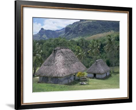 Traditional Houses, Bures, in the Last Old-Style Village, Fiji, South Pacific Islands-Anthony Waltham-Framed Art Print