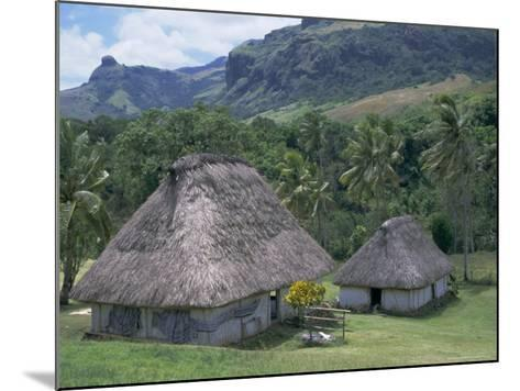 Traditional Houses, Bures, in the Last Old-Style Village, Fiji, South Pacific Islands-Anthony Waltham-Mounted Photographic Print