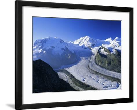 View to Monte Rosa, Liskamm and the Gorner Glacier, Gomergrat, Swiss Alps, Switzerland-Ruth Tomlinson-Framed Art Print