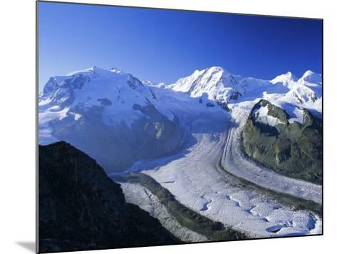 View to Monte Rosa, Liskamm and the Gorner Glacier, Gomergrat, Swiss Alps, Switzerland-Ruth Tomlinson-Mounted Photographic Print