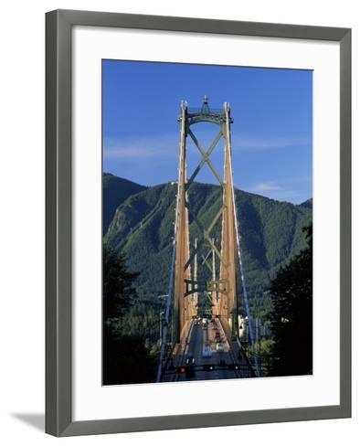 View Northwards Over the Lions Gate Bridge from Stanley Park, Vancouver, British Columbia, Canada-Ruth Tomlinson-Framed Art Print