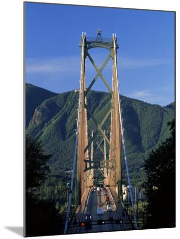 View Northwards Over the Lions Gate Bridge from Stanley Park, Vancouver, British Columbia, Canada-Ruth Tomlinson-Mounted Photographic Print