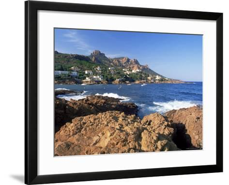 View Across Bay to the Village of Antheor, Provence, France-Ruth Tomlinson-Framed Art Print