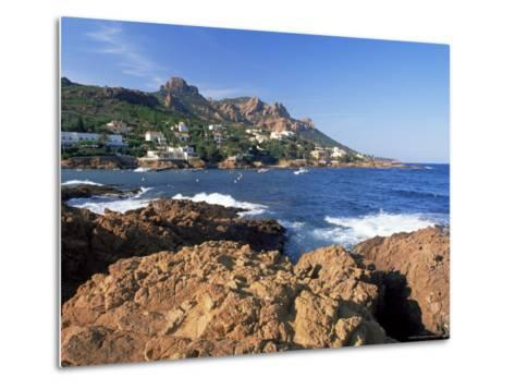 View Across Bay to the Village of Antheor, Provence, France-Ruth Tomlinson-Metal Print