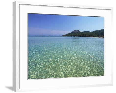 Still Waters off the Plage Notre Dame, Provence-Alpes-Cote-D'Azur, France-Ruth Tomlinson-Framed Art Print