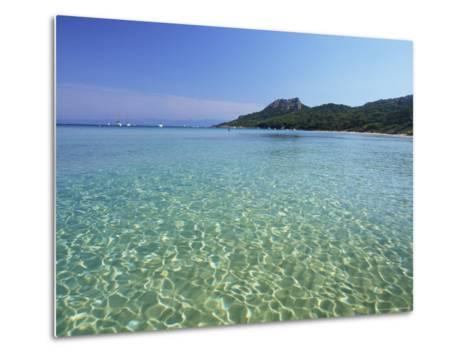 Still Waters off the Plage Notre Dame, Provence-Alpes-Cote-D'Azur, France-Ruth Tomlinson-Metal Print