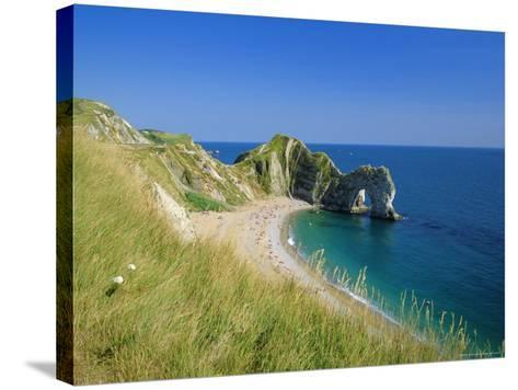 View from Coastal Path of Durdle Door, Dorset, England-Ruth Tomlinson-Stretched Canvas Print