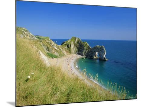 View from Coastal Path of Durdle Door, Dorset, England-Ruth Tomlinson-Mounted Photographic Print
