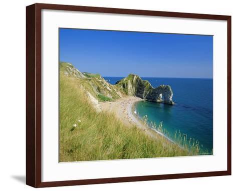 View from Coastal Path of Durdle Door, Dorset, England-Ruth Tomlinson-Framed Art Print