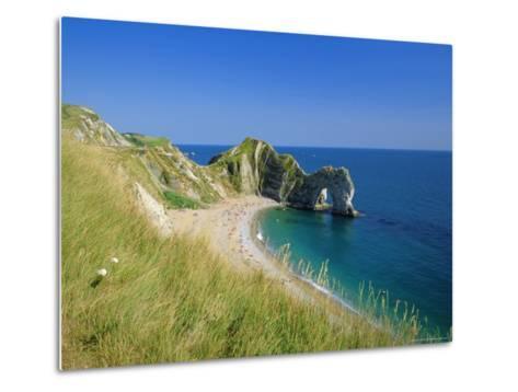 View from Coastal Path of Durdle Door, Dorset, England-Ruth Tomlinson-Metal Print