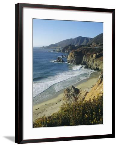 Ninety Miles of Rugged Coast Along Highway 1, California, USA-Christopher Rennie-Framed Art Print