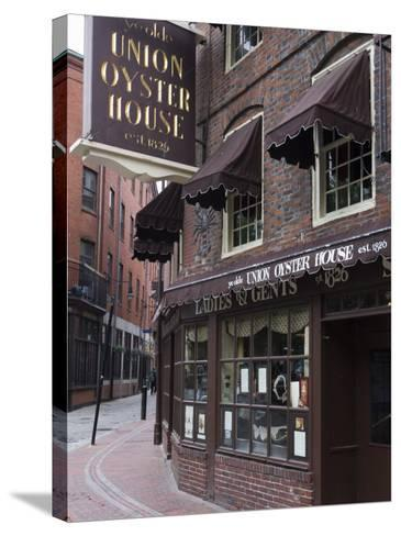 The Oyster Union House, Blackstone Block, Built in 1714, Boston, Massachusetts-Amanda Hall-Stretched Canvas Print