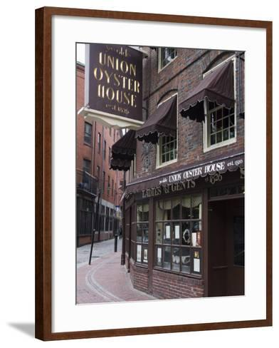 The Oyster Union House, Blackstone Block, Built in 1714, Boston, Massachusetts-Amanda Hall-Framed Art Print