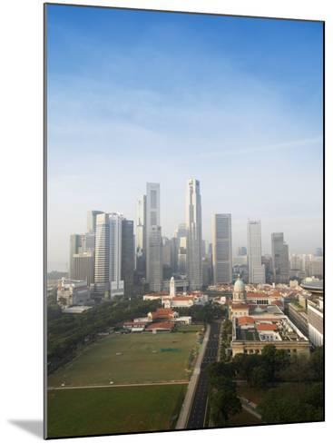 Singapore City Skyline at Dawn with the Padang and Colonial District in the Foreground, Singapore-Amanda Hall-Mounted Photographic Print