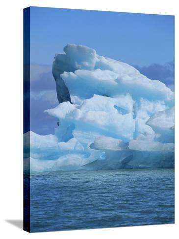 Ice Formed Under Pressure Appears Blue, Monaco Glacier, Leifdefjorden, Svalbard, Norway-Louise Murray-Stretched Canvas Print