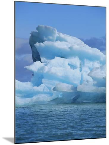 Ice Formed Under Pressure Appears Blue, Monaco Glacier, Leifdefjorden, Svalbard, Norway-Louise Murray-Mounted Photographic Print