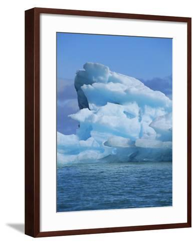 Ice Formed Under Pressure Appears Blue, Monaco Glacier, Leifdefjorden, Svalbard, Norway-Louise Murray-Framed Art Print