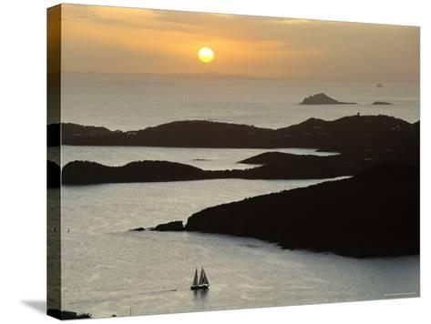 Sunset Over Inlet to Charlotte, Amalie, St. Thomas, Us Virgin Islands, West Indies-Fred Friberg-Stretched Canvas Print
