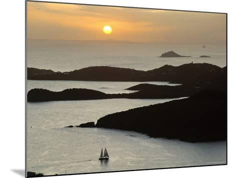 Sunset Over Inlet to Charlotte, Amalie, St. Thomas, Us Virgin Islands, West Indies-Fred Friberg-Mounted Photographic Print