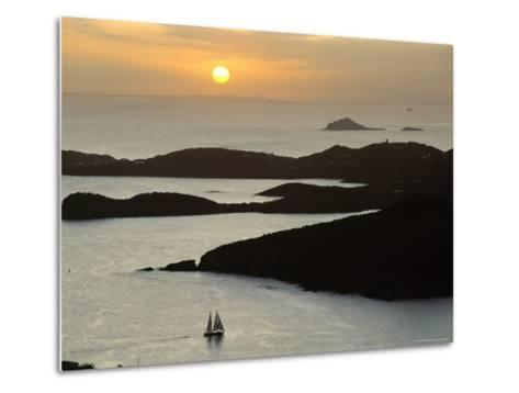 Sunset Over Inlet to Charlotte, Amalie, St. Thomas, Us Virgin Islands, West Indies-Fred Friberg-Metal Print