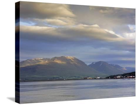 The Head of the Fjord from the Jetty in Akureyri Harbour on a Summer Evening, Iceland-Pearl Bucknell-Stretched Canvas Print