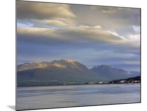 The Head of the Fjord from the Jetty in Akureyri Harbour on a Summer Evening, Iceland-Pearl Bucknell-Mounted Photographic Print