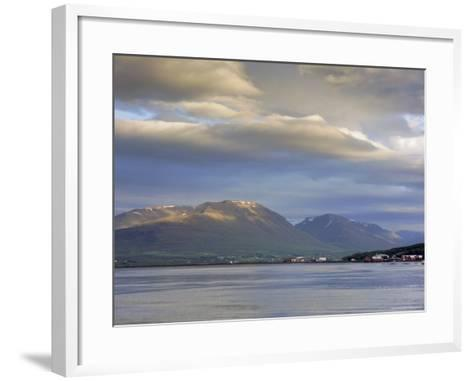The Head of the Fjord from the Jetty in Akureyri Harbour on a Summer Evening, Iceland-Pearl Bucknell-Framed Art Print