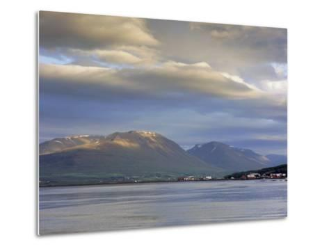 The Head of the Fjord from the Jetty in Akureyri Harbour on a Summer Evening, Iceland-Pearl Bucknell-Metal Print