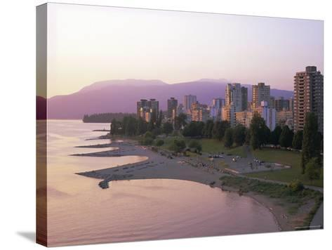 Evening Light on Sunset Beach Park in English Bay, British Columbia, Canada-Pearl Bucknell-Stretched Canvas Print